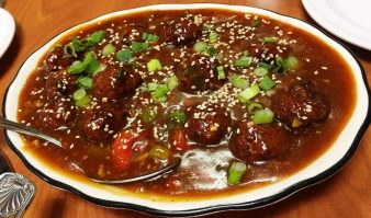 chicken meatball Manchurian